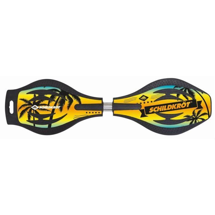 Waveboard MTS Sportartikel 510804 modèle Schildkröt Planche Good Vibes jaunes-noire