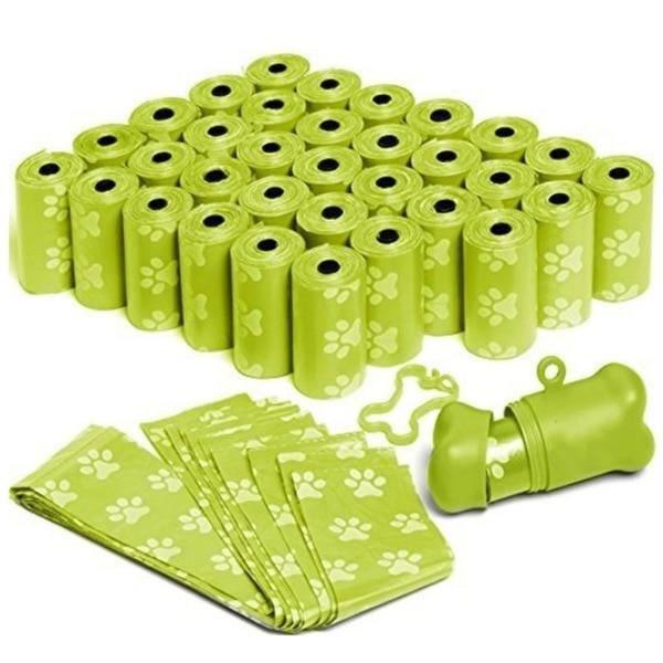 Sac de proprete excrements,Sac de toilette pour chiens Sac poubelle pour animaux domestiques, sac de transport - Type green-M