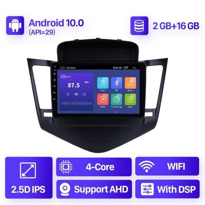 9 pouces DSP 4G GPS autoradio Android 10.0 2 + 16 GB wifi lecteur multimédia pour Chevrolet Cruze 2013 2014 2015 2din unité principa