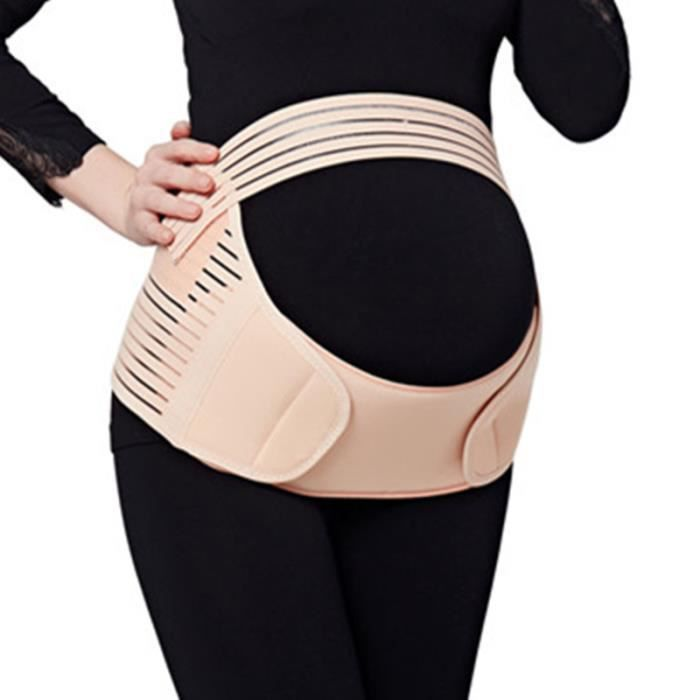 Ceinture grossesse de soutien lombaire et abdominal - Coton - Support pour femme enceinte (Rose, Taille L)