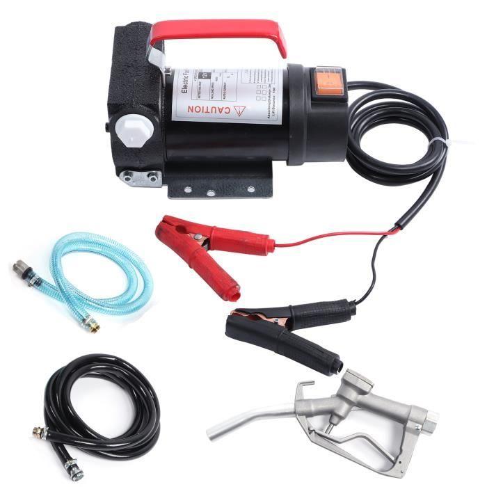 12V Portable Pompe à Fioul et Diesel - 45L-min Pompe de Transfert d'Huile Pompe à Diesel Électrique Pompe de Liquide HB069