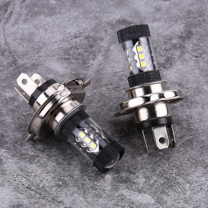 Akozon Ampoules LED anti-brouillard Paire H4 H7 12V-24V 80W Super Bright Phare de remplacement 950LM Daytime