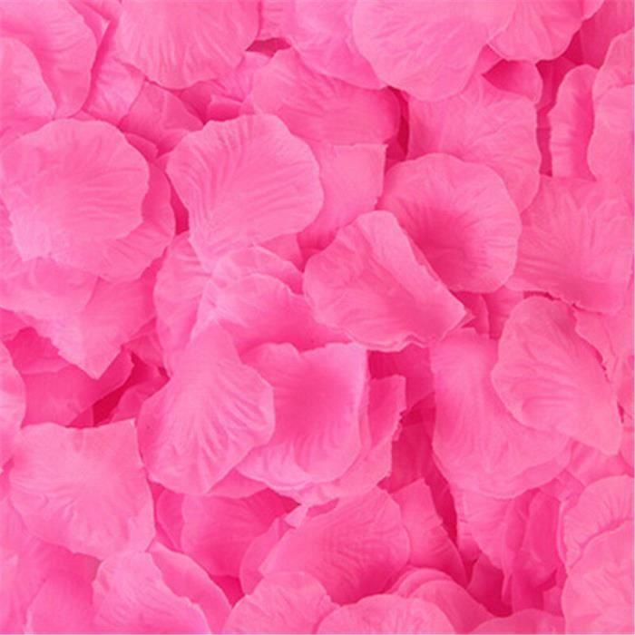 Décoration florale,Accessoires de décoration de mariage,100-500-2000 pièces,fausses fleurs,pétales de - Type Dark pink - 100pcs