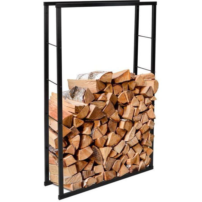 ib style®Range-bûches - Support robuste pour bois de chauffage - 4 tailles différentes - 80x150cm
