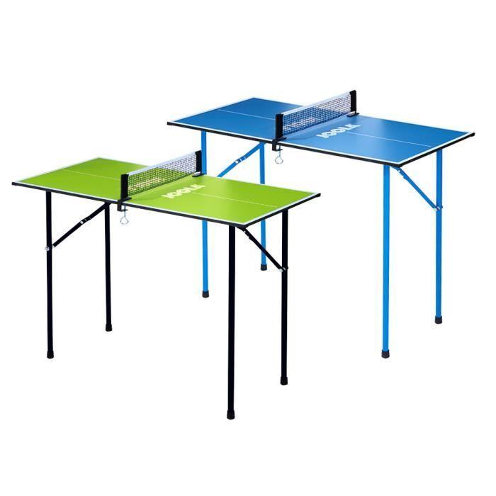 JOOLA Table tennis de table Mini d'intérieur pour loisir avec filet de tennis de table - Vert 90 x 45 x 76 cm 7 kg