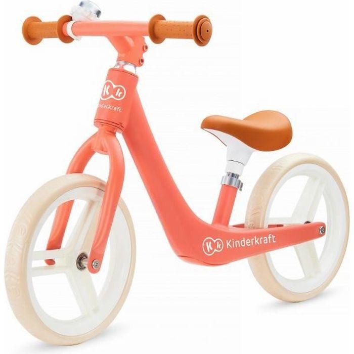 KINDERKRAFT Vélo Draisienne Fly Plus Magic Coral - Orange - Charge max 35 kg - A partir de 3 ans