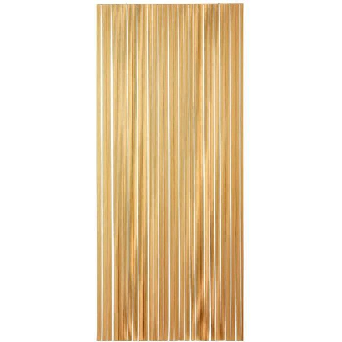 Rideau de porte Tahiti PVC 90x220 cm - brun, beige