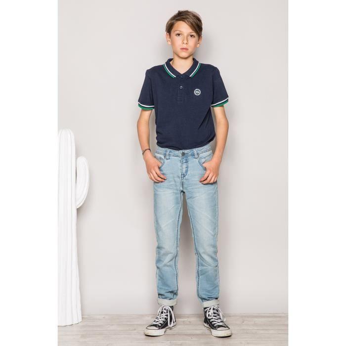 STRIPHTML(Jogg jeans slim avec délavage STEEVE - Couleur - Bleach Used, Taille - 10)