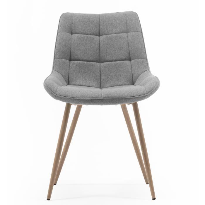 Chaise de salle à manger coloris gris - 84 x 61 cm