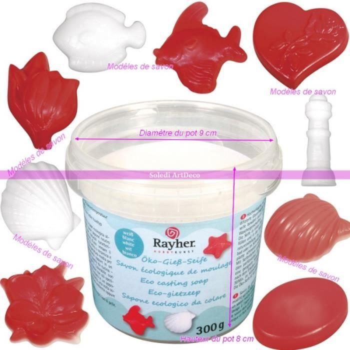 Pot de Savon naturel glycérine blanc, Savon écologique de moulage, 300g, pour tout type de peau - Unique