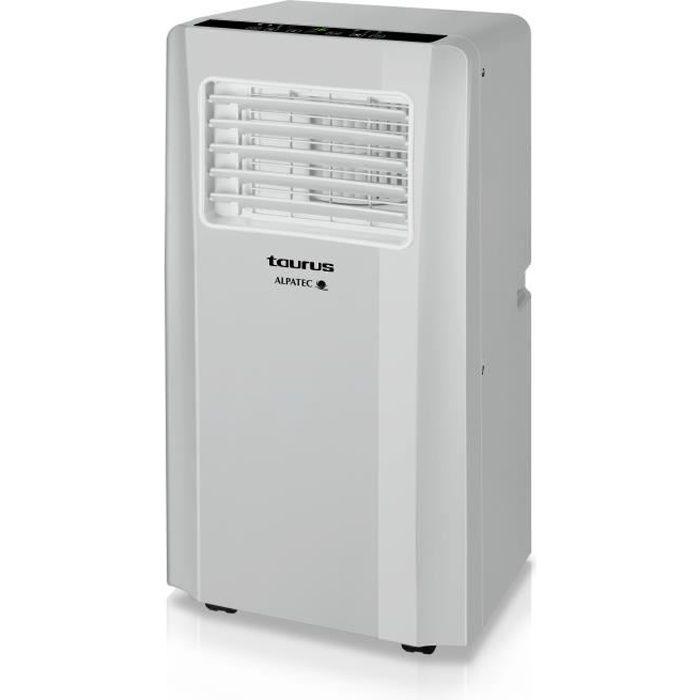 TAURUS AC2600RVKT Climatiseur mobile réversible 2600 watts - 9000 Btu - Déshumidificateur - Silencieux - Télécommande - Kit fenêtre