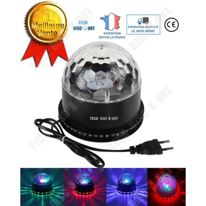 TD® Ampoule disco led couleur connecté RGB projecteur lampe ambiance scène couleur changant éclairage scénique rotatif boule portabl