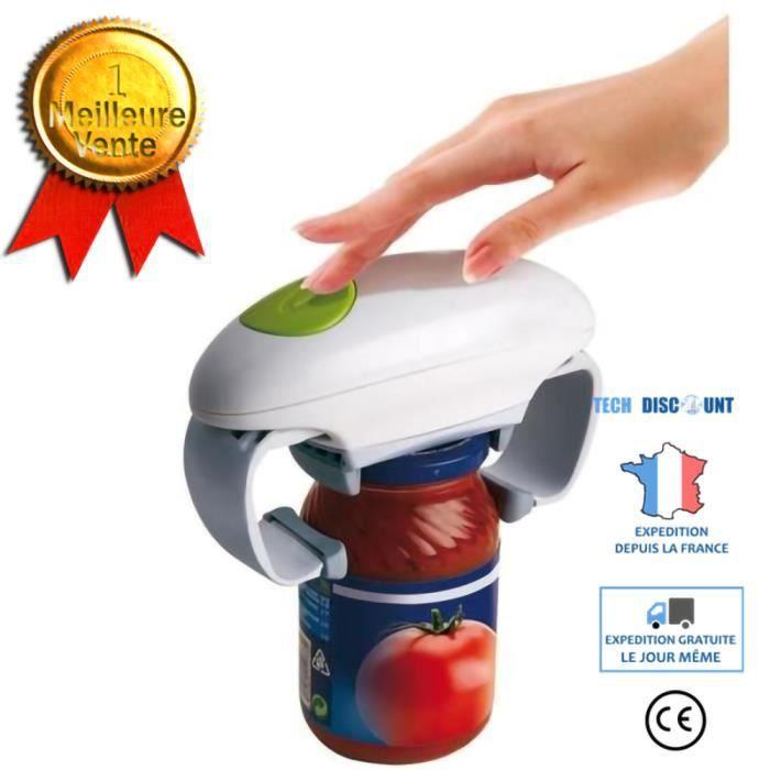 ouvre bocal électrique facile one touch automatique confiture cuisine sans effort plastique magic open ajustable mains libres rapide