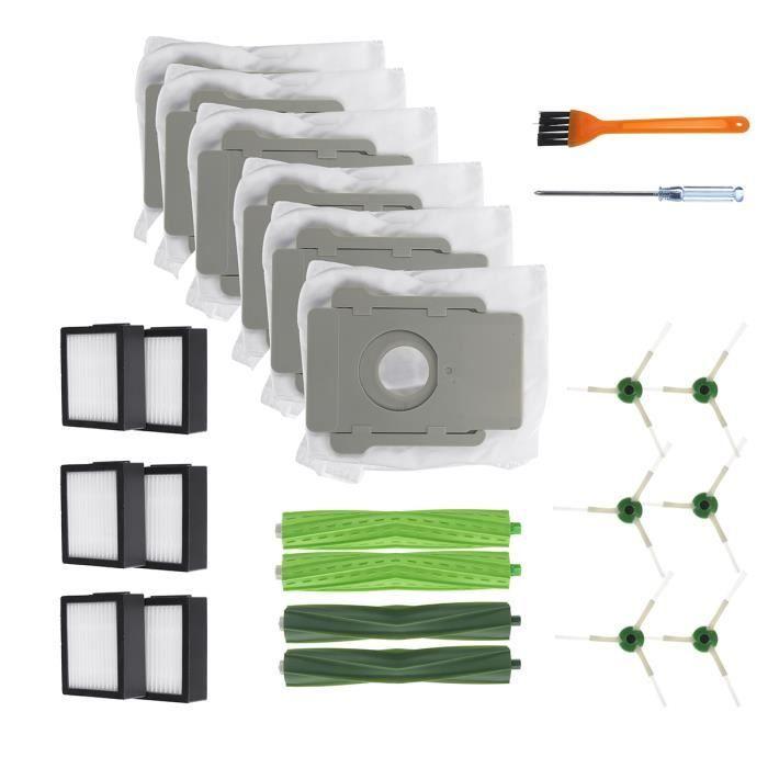 TEMPSA Kit De Remplacement Brosses Et Filtres Pour IRobot Roomba Série I7 I7+ E5 E6 Série Aspirateur