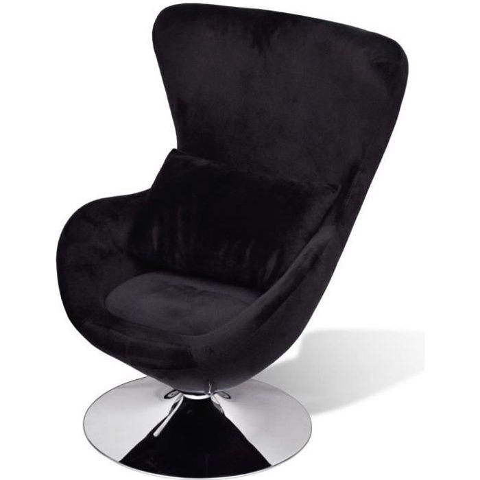 Chaise uf pivotante avec coussin noir