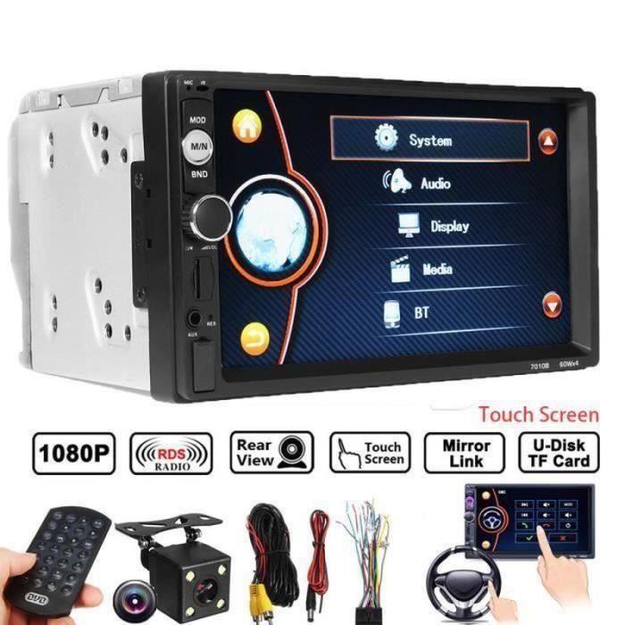 GM30863-Autoradio bluetooth 2DIN 7'' Voiture MP5 FM Tactile Caméra Arrière USB TF RC SA69420