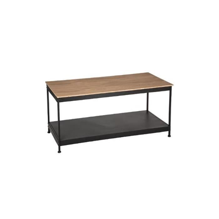 Table basse rectangulaire industriel achat vente table Table basse industrielle pas cher