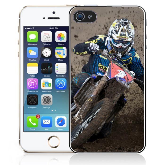 coque iphone 5c motocross boue