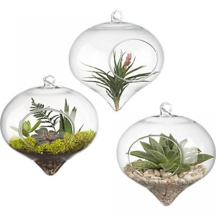petit pot rond verre suspendus vase plantes terrarium. Black Bedroom Furniture Sets. Home Design Ideas
