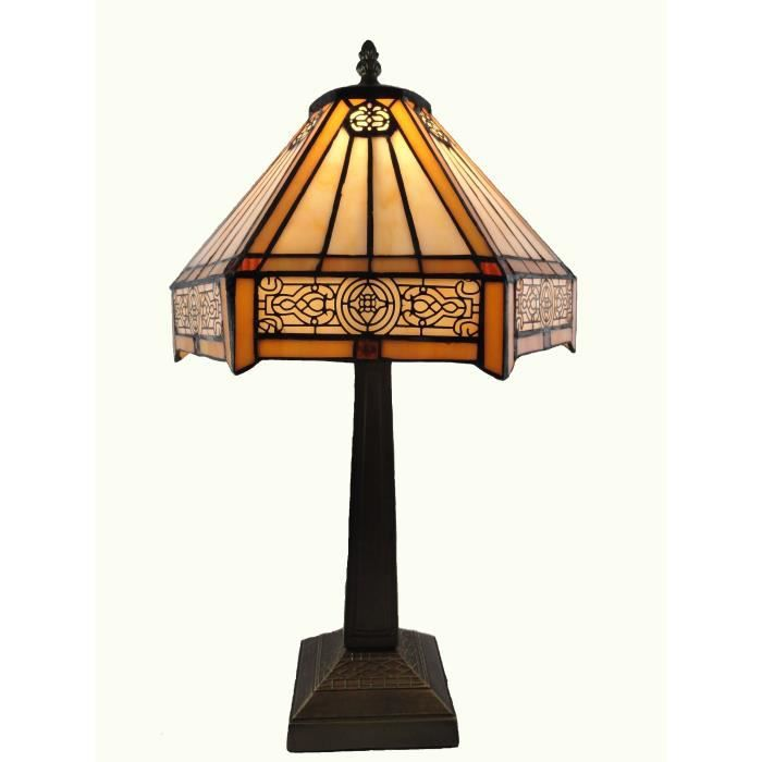 lampe tiffany art deco achat vente lampe tiffany art deco cdiscount. Black Bedroom Furniture Sets. Home Design Ideas
