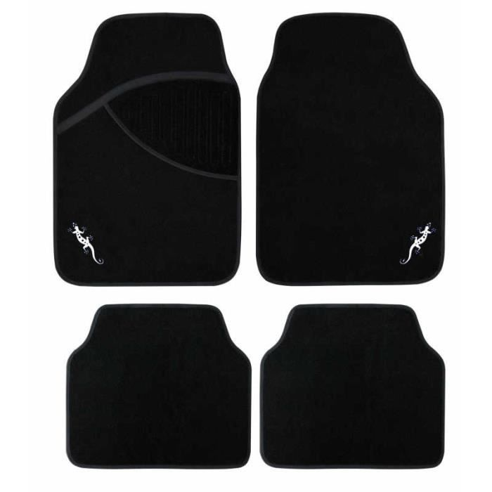 tapis voiture avec logo salamandre lezard blanc achat. Black Bedroom Furniture Sets. Home Design Ideas