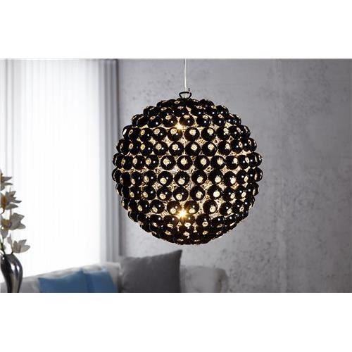 Suspension boule noir achat vente suspension boule for Suspension boule noire