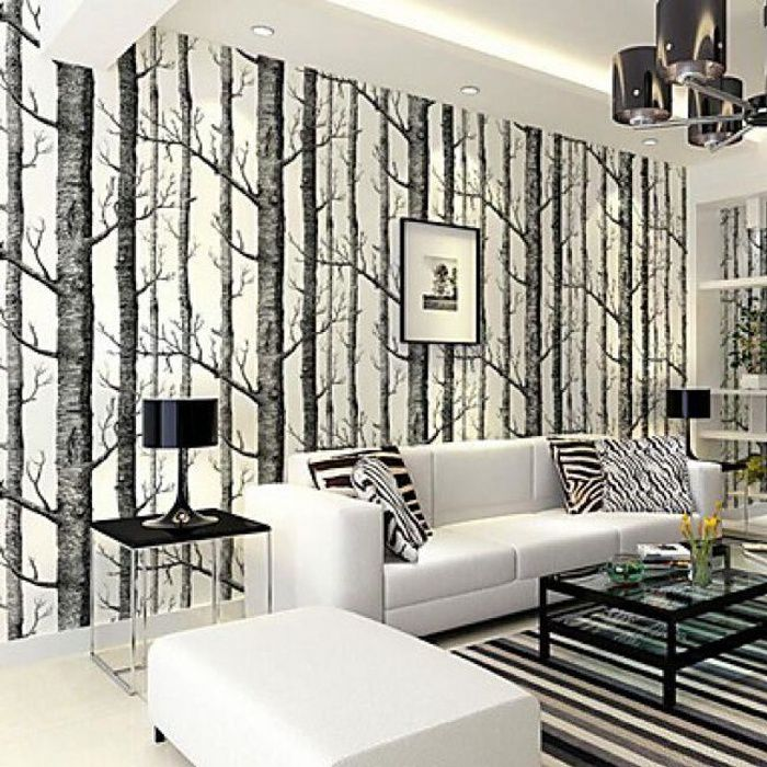 rouleau de papier peint contemporain et intiss motif d. Black Bedroom Furniture Sets. Home Design Ideas