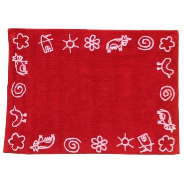 tapis de sol enfant 120x160 cm rouge dessin enfant achat vente tapis cdiscount. Black Bedroom Furniture Sets. Home Design Ideas