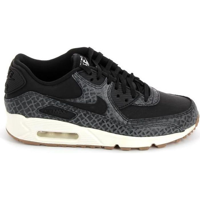 Basket -mode - Sneakers NIKE Air Max 90 Prem Noir Gris 443817-010