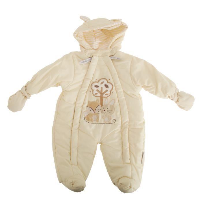 Nursery Time Manteau combinaison à capuche Bébé
