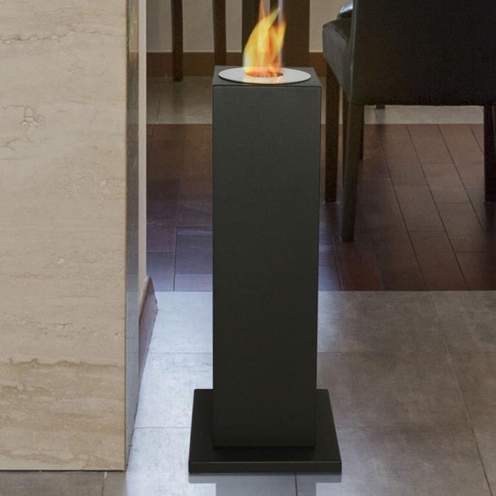 CHEMINÉE Aedea, une cheminée bio éthanol sur une colonne no