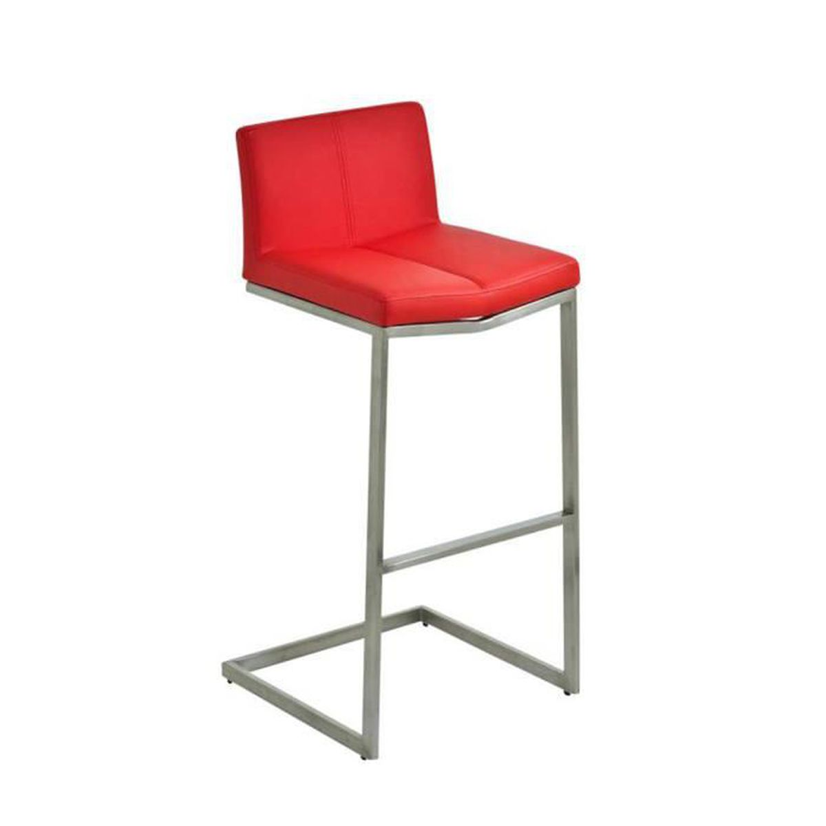 tabouret de bar avec si ge en similicuir coloris rouge 99 x 43 x 41 cm achat vente. Black Bedroom Furniture Sets. Home Design Ideas