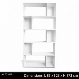 bibliotheque blanc laque achat vente bibliotheque blanc laque pas cher cdiscount. Black Bedroom Furniture Sets. Home Design Ideas