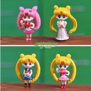 ROBOT - ANIMAL ANIMÉ Sailor Moon 4pcs / set 6.5 cm Modèle PVC Figurines