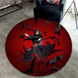 Naruto Mugen Tsukuyomi Tapis Rond Cercle magique Sol Chaise Tapis Home Area Rugs