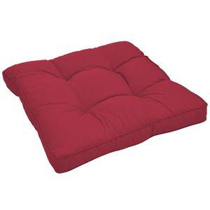 COUSSIN D'EXTÉRIEUR Beautissu Coussin lounge 60x60x10cm - Rouge - Pour