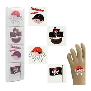 JEU DE TATOUAGE LOT 12 TATOUAGE PIRATE TATOO EPHEMERES temporaires