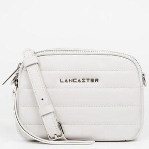 SAC À MAIN Lancaster -  Mini sac trotteur zippé Blanc Cassé F