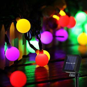 GUIRLANDE D'EXTÉRIEUR Guirlande Lumineuse Solaire 50 Boule LED, 10m Fil