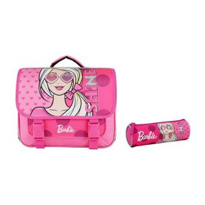 CARTABLE Cartable 38 Cm + Trousse Scolaire Rose-Barbie Matt