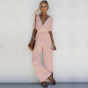 COMBINAISON Combinaison Pantalon Femme V-Neck Combinaison Dame