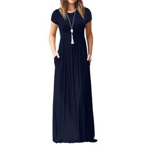 ROBE Robe de femmes Maxi à manches courtes en vrac soli