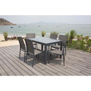 Ensemble table et chaise de jardin Ensemble repas de jardin - table en aluminium exte