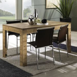 TABLE À MANGER SEULE Table de repas 140 cm Chêne antique - NAPLES - L 1