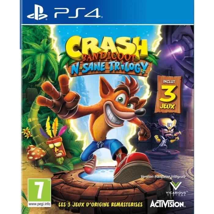 crash bandicoot n sane trilogy jeu ps4 achat vente jeu ps4 crash bandicoot n sane trilogy. Black Bedroom Furniture Sets. Home Design Ideas