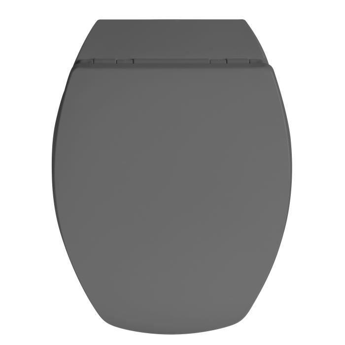 Abattant WC Baccara - bois compressé - gris anthracite