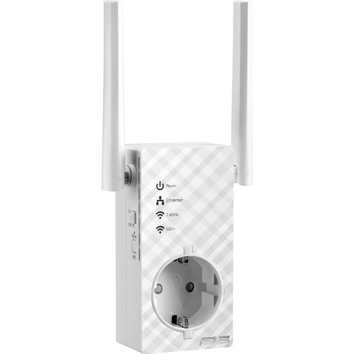 Asus RP-AC53 Répéteur Wi-Fi / Extender Wi-FI /Amplificateur Wi-Fi Wi-Fi AC 750 Mbps Double Bande