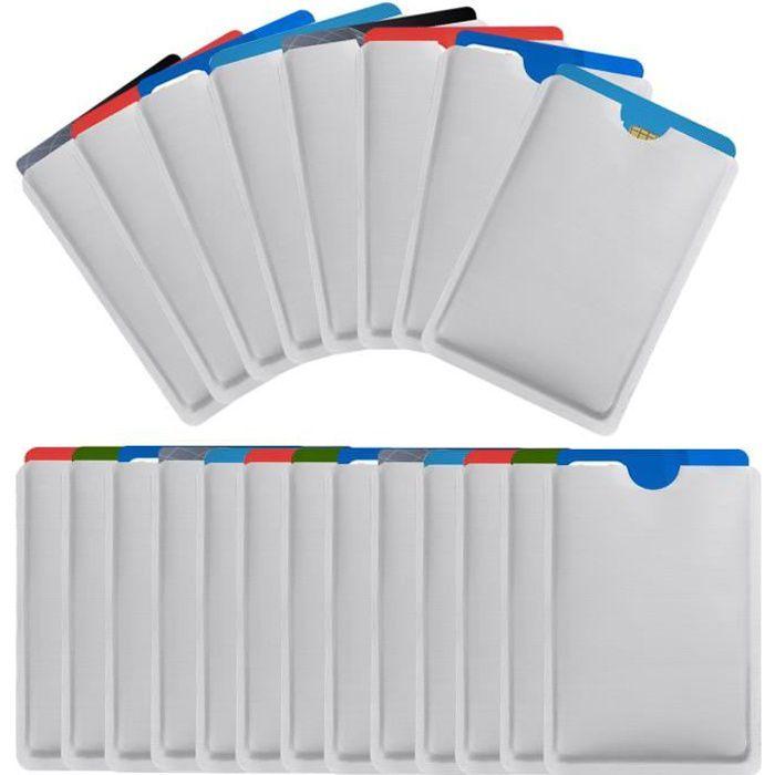 25 Pièces RFID Pochette Protection Porte Carte, Anti RFID Protège Carte, Etui Carte Bancaire Anti Piratag, Porte Carte Identité
