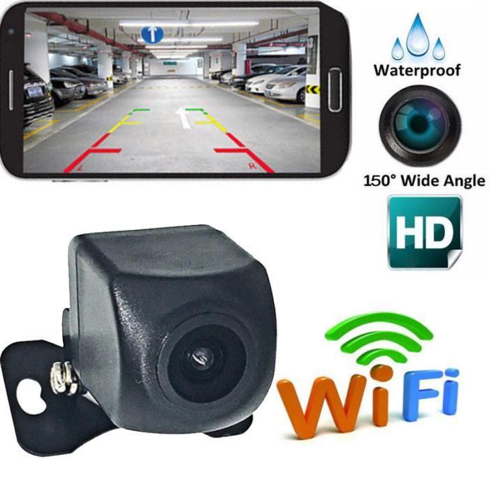 Caméra de recul HD Caméra de recul Vision arrière Caméra de vision nocturne 150 degrés Grand Angle (Noir)