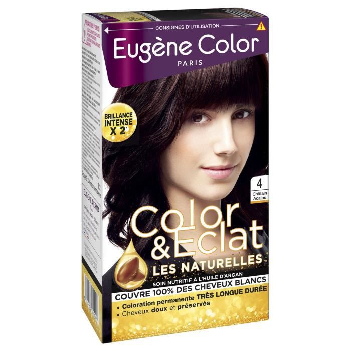EUGENE COLOR Crème Colorante permanente N4 Chatain Acajou